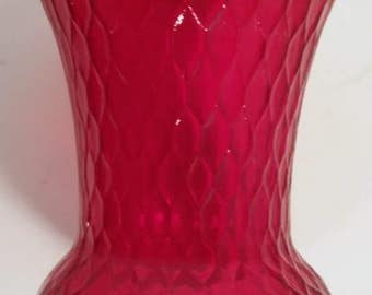 Vintage Red Glass Votive Candle Holder