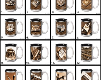 Boston Red Sox 15 oz. Ceramic Coffee Mug with Original Photography - Pick Any 1. 16 to choose from.