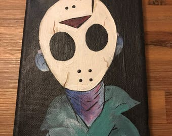 Jason voorhees acrylic painting