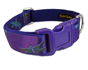 Purple Dog Collar, Dragonfly Dog Collar, Girl Dog Collar, Female Dog Collar, Fancy Dog Collar, Custom Dog Collars, Wide Dog Collar