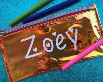 Personalized Pencil Case, Pencil Pouch, School Supplies