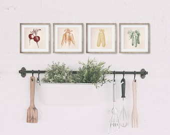 Farmhouse Kitchen Decor - Kitchen Wall Decor - Kitchen Art - Dining Room Decor - Garden Art - Food Art - Housewarming Gift - Vegetable Print