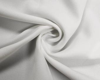 """Off White 60"""" Poly Crepe Fabric by the Yard - Style 3060"""