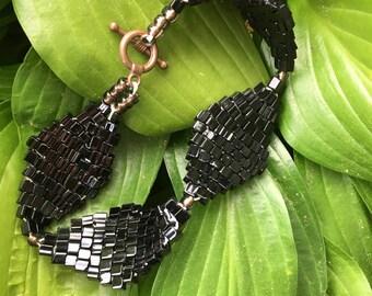 Black Diamond Weave Bracelet