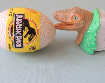 1992 Jurassic Park Candy Containers Egg and Dinosaur