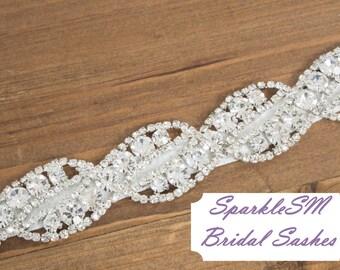 Guillotine, mariée ceinture, ceinture, ceinture de cristal, ceinture de strass, pierreries ceinture, ceinture de robe de mariage, robe de mariée Sash, ceinture de demoiselles d'honneur