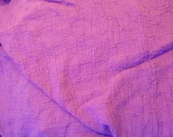 Purple Gauzy Cotton Fabric 60 wide 3 yards Vintage Nubby Cotton