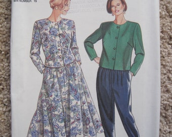 UNCUT Simplicity Pattern 8062 - Misses Pants, Skirt and Top - Size 8, 10, 12, 14, 16, 18, 20