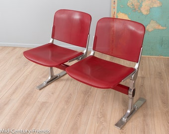70s bench, waiting bench, vintage (712045)