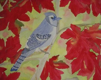 Original Watercolor Painting - Autumn