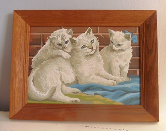 Vintage CATS PAINT by NUMBER