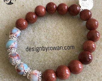 Semi-precious gemstone stretch bracelet