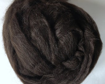 Zwartbles spinning fibre 100g/ 3.5oz / combed top / natural black fibre / British wool