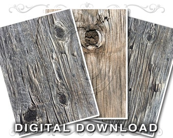3 Weathered Boards Background Images | Rustic Wood Knots Clip Art Photos | Rough Aged Wood Textures | Small Business Commercial Use | Wood02