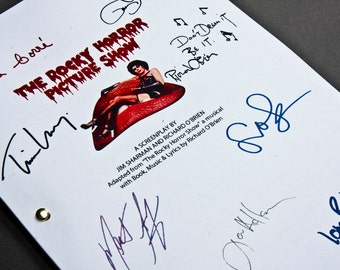 Rocky Horror Picture Show Film Movie Script with Signatures / Autographs Reprint Musical Unique Gift  Screenplay Present TV Fan Geek