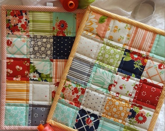 Large Patchwork Potholders (set of 2)