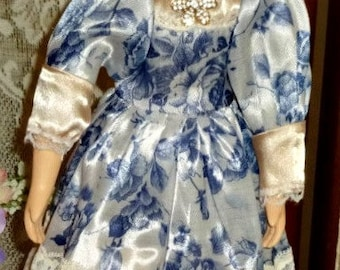 Blue Jewel Porcelain Doll 17 inches