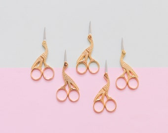 Embroidery scissors, stork scissors, bird scissors, brass scissors