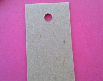 chipboard mini gift tags, set of 50 price tags, labels 1 x 2 inch