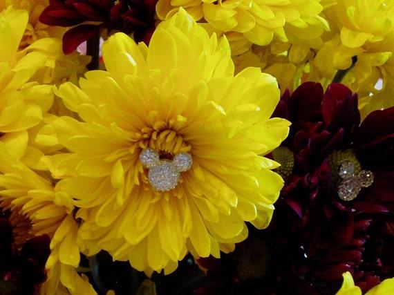 Hidden Mickey-Minnie Mouse Ears-Bouquets-Disney Wedding Centerpiece-Boutonniere Decoration-Flower Girl-Bridesmaids Flowers