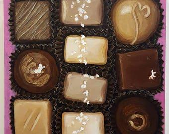 Original Painting - Chocolate Box