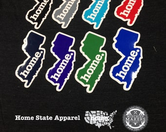 New Jersey Home. Colored Vinyl Sticker
