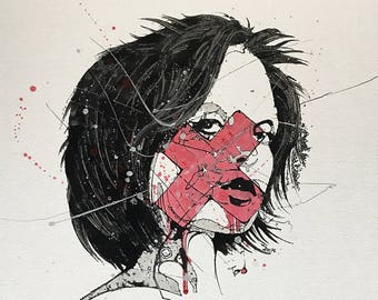 "Monica_I, 15"" x 17"", oil on paper"
