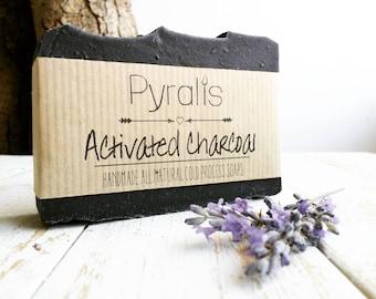 Activated Charcoal Soap, Charcoal Soap, Organic Soap, Detox soap, Acne Soap, Tea Tree Soap, Lavender Soap, Cold Process Soap, Vegan Soap