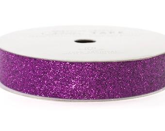 "Glitter Tape Grape Purple - 5/8"" x 3 yds - 100% Archival"