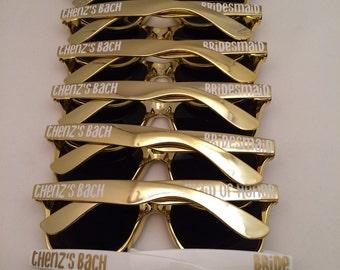 Personalized Sunglasses, Bachelorette Gift, Wedding Favors, Bachelorette Party, Bachelorette Favor, Bridesmaid Gift, Bridesmaid Proposal