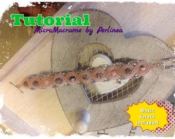 DIY MicroMacrame Tutorial bracelet Eternal Waves