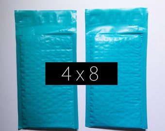100 4x8 Teal Mint Bubble Mailer Envelope Bag Padded Protection Shipping Mailer Lightweight 4x7 inside