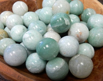 Petite Amazonite Sphere Ball-- Round Amazonite Stone - Reiki - Metaphysical - Crafting - Crystal Grids  (RK163B8-01)