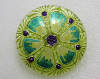Czech Glass Button 27 mm