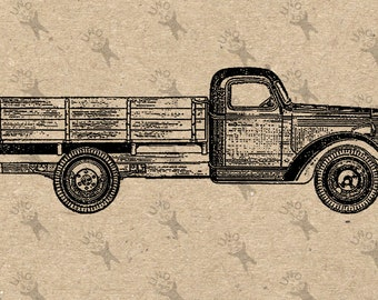 Vintage Truck Old Car oldsmobile drawing Digital printable Instant Download black and white graphic for iron on transfer burlap fabric etc