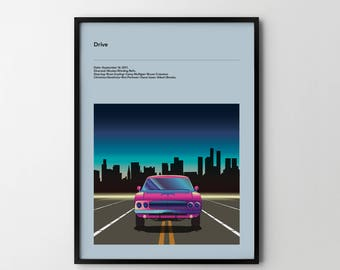 DRIVE Movie Art Poster, Movie Print, Film Poster, Film Print 2011, Drive Poster