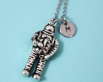 Astronaut Necklace Silver Astronaut Charm Necklace Astronaut Pendant Astronaut Jewelry Space Necklace Astronaut Gift Personalized Necklace