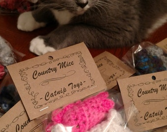 Catnip Toys, Cat Toys, Sale, Country Mice, Pet Gift, Cat Lover, Pet Supplies, (Set of 2) Handmade Cat Toys, Kitty Toys, Country Goods