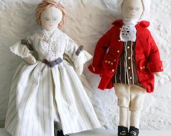 British Colonial Folk Art Dolls 1976