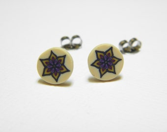 Little Millefiori Star Post Earrings