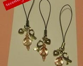 On Sale..  Recently reduced Breast Cancer Awareness Cell Phone, iPod, Lariat, Strap Charm