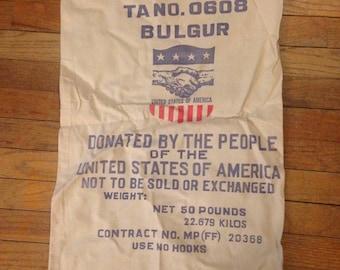Vintage cotton flour sack