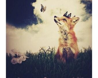 Fox Print Woodland Fairy Tale Art Print The Little Fox Prince