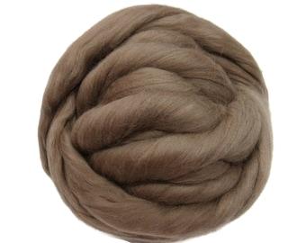 Merino / Silk  Roving, (Earth)