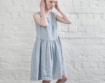 Smock linen dress / Loose linen dress