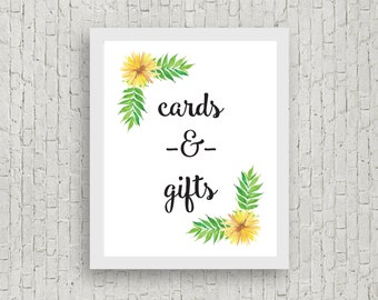 Cards and Gifts Sign // 8x10 // Instant Download