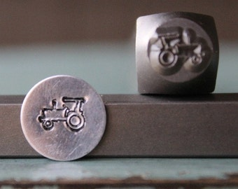 Brand New 7mm Tractor Metal Design Stamp - Metal Stamp - Metal Stamping and Jewelry Tool - SGCH-108