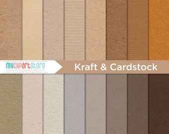 Digital Texture - Kraft Paper & Card stock, Corrugated Cardboard, Scrapbook Paper, Digital Pattern, Commercial Use, JPEG