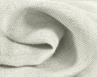White Burlap Fabric - by the Yard