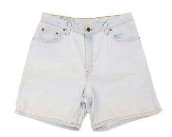 "Plus Size Levi's High Waisted Shorts 34"" Waist - 90s Vintage Mom Jean Shorts Size 15"